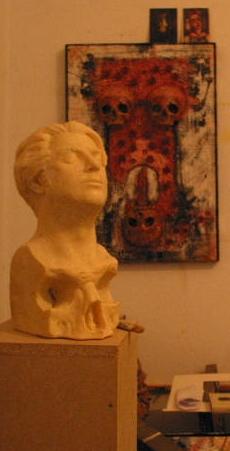 Schädelwaldt als Skulptur von Dr. Christian Bahr